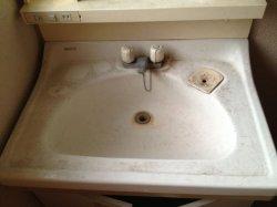 画像1: 洗面所・蛇口周りの水垢洗浄